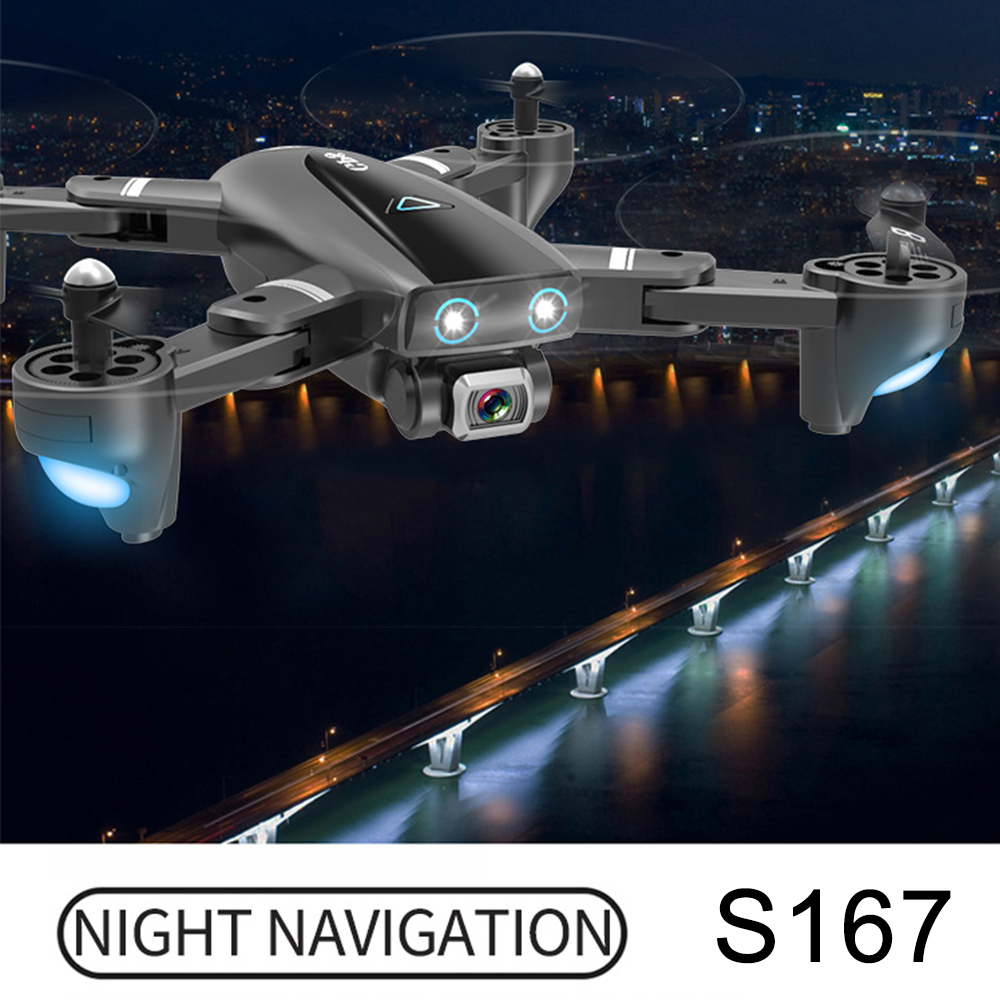 S167 GPS Drone Quadcopter With Camera 720P 1080P 4K Drones RC HD Helicopter Fixed Point WIFI FPV Follow Me Mode vs SG900 S E520S Camera Drones     - title=
