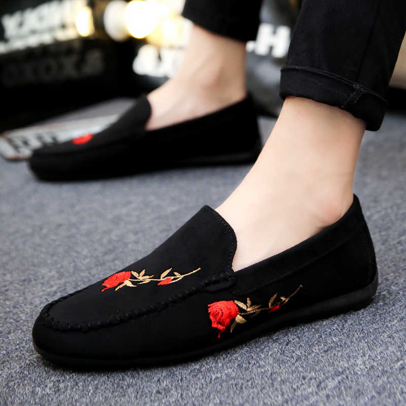 Mazefeng 2018 New Fashion Summer Men Casual Shoes Men Cloth Shoes Slip-on Male Shoes Breathable Personalities Wear-resistant