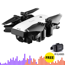 цена на Follow me Helicopter Foldable drones Wide Angle HD 1080P wifi Camera drone with Double GPS FPV RC Quadcopter toy for Child gift