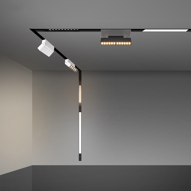 6W 12W Magnetic Track Lights Suspended LED Spotlight LED Magnetic Light Track Lighting For Home Clothing Shop Store Art Gallery