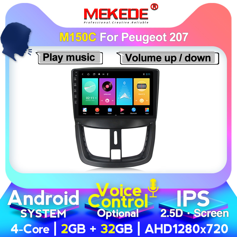 MEKEDE M400 Android For Peugeot 207 1 2006 2007 2008 2009 2010 2011 2012 2013 2014 2015 Car Radio Multimedia Video Player
