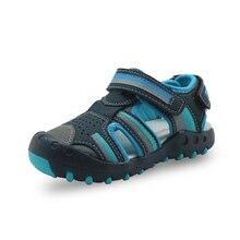 Apakowa wiosenne letnie chłopięce sandały maluch Baby Boy zamknięte Toe plażowe sandały dziecięce odkryte sandały sportowe dla chłopców obuwie dziecięce