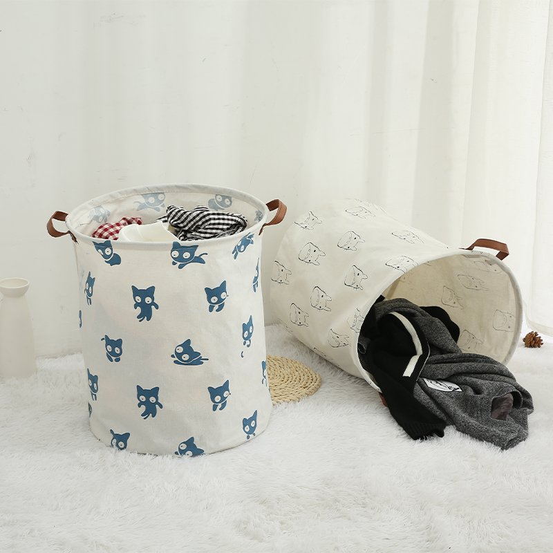 Totoro Foldable Canvas Laundry Basket for Book, Toy, Clothes Collapsible Cubes Storage Bin, Large Hamper Laundry Basket 5