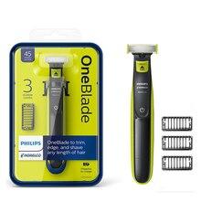 필립스 QP2520 OneBlade 전기 면도기 NimH 배터리로 충전식 하프 전기 트리머 및 남성용 반 전기 면도기