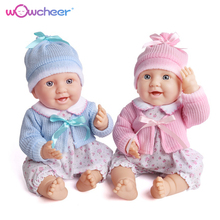 WOWCHEER Bebes Silicone Mini Reborn Babies Doll 23 42CM Handmade New Lifelike Soft Toddler Dolls Toys For Girls Kids Xmas Gifts