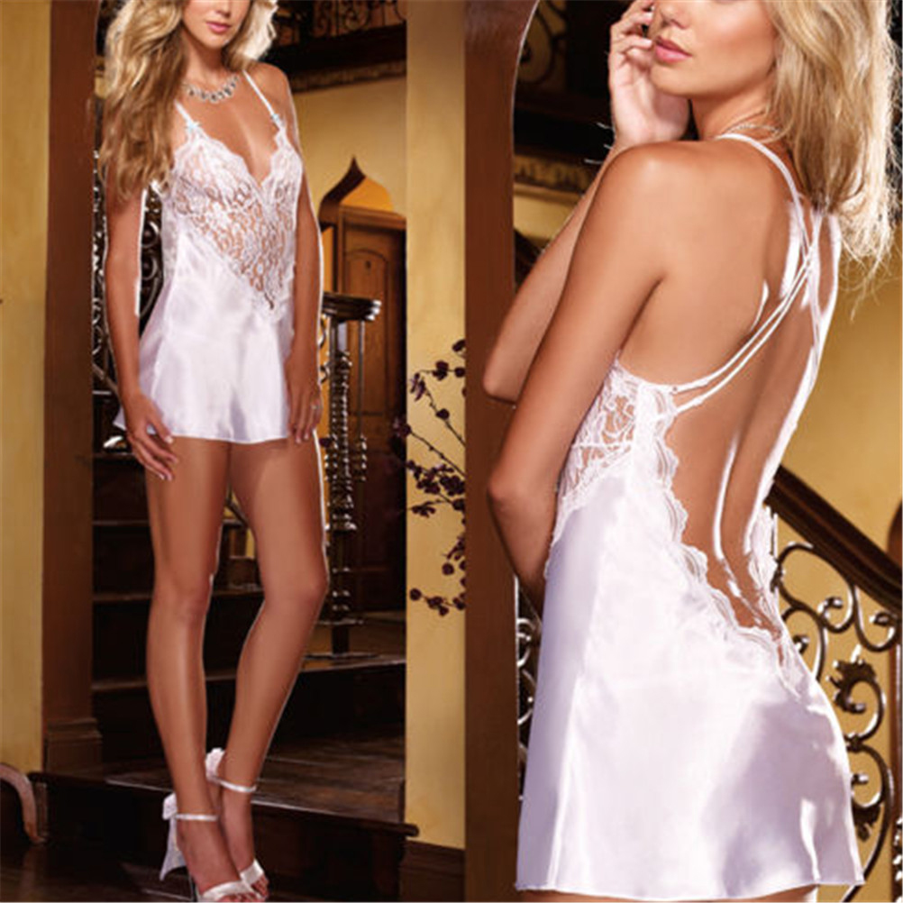 Underwear Babydoll Dress Chemise Lace Lingerie Sexy Womens Fashion