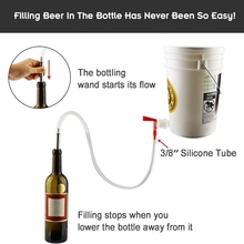 Bottle-Filler-Wand-Kit Wine-Kombucha Home Filler-Brush-Using Spring-Loaded Stainless-Steel