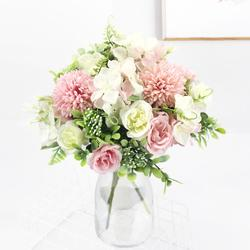 pink artificial flower/Artificial roses/garden decoration/artificial flower garland/christmas decoration/wedding party peony bou