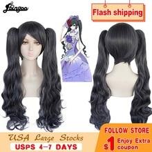 Парик Ebingoo Черный Батлер Kuroshitsuji Небесный Phantomhive длинный двойной хвост серый синтетический парик для женщин