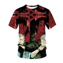 Jujutsu Kaisen Manga T-Shirt New Hot-Sale Fashion Comfortable Synthetics Printing Short Sleeves Japanese Anime Boy's Top Cloth