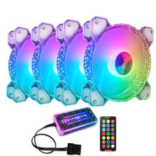 Diamond 120mm Fan Cooling PC Computer Case Fans PWM 6PIN Adjustable Silent Cooler Mute RGB Ventilador Radiator Aura Sync