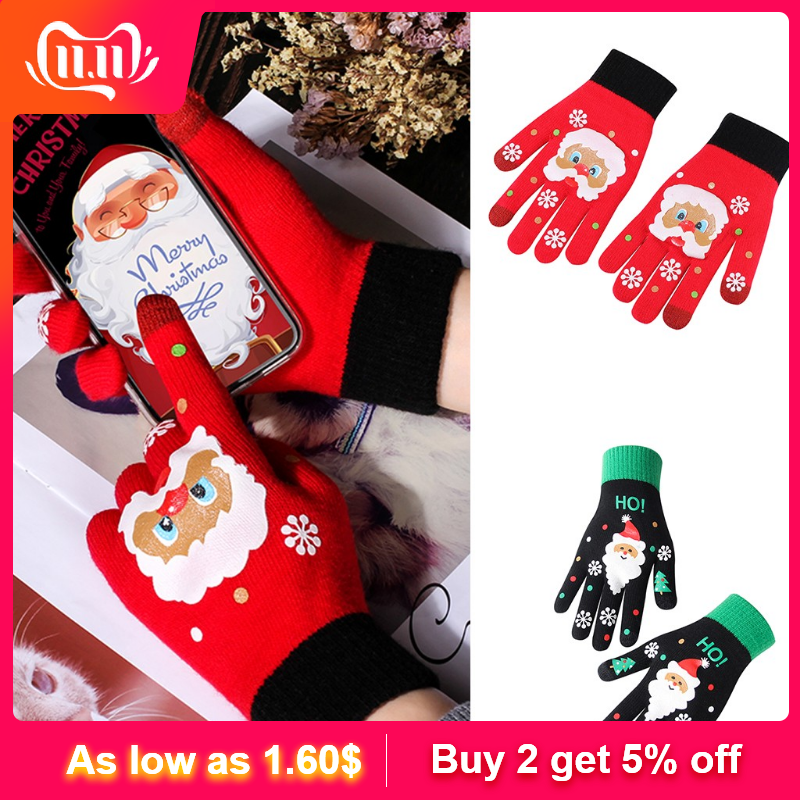 2019 High Quality Women's Winter Gloves Christmas Warm And Plush Knit Knit Gloves Hot Selling Support Wholesale Dropshipping