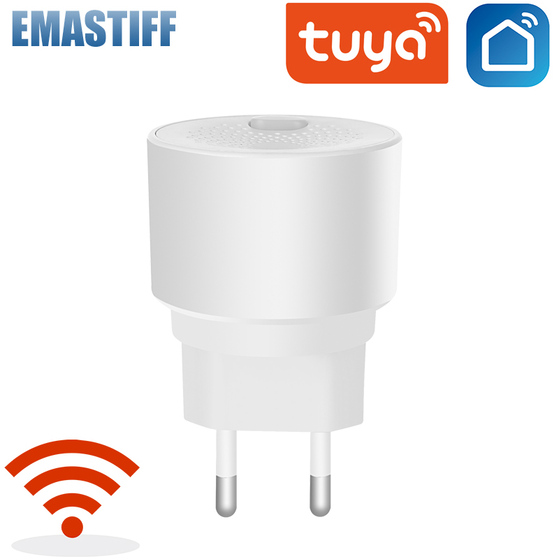 Tuya WiFi GAS LPG Leak Sensor Alarm Fire Security Detector APP Control Safety Smart Home Leakage Sensor Support AC 85V-250V