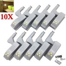 10 Uds LED lámpara con bisagra para interior bajo las luces del Gabinete Universal armario Sensor de armario luces para dormitorio armario de cocina lámpara de noche
