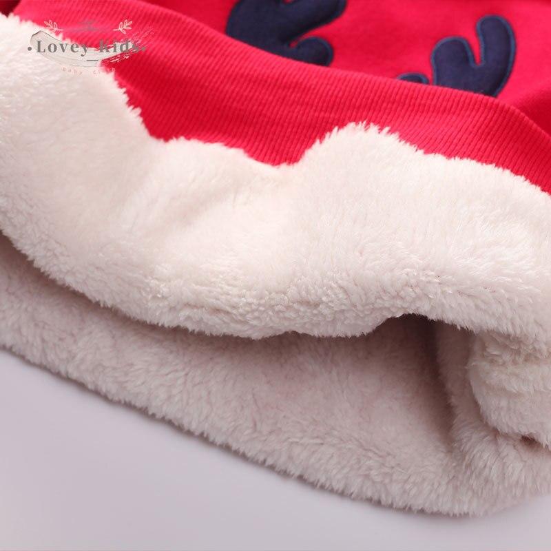 2020 Baby Girl Boy Sweatshirts Pullover Christmas Xmas Deer Print Winter Warmer Long Sleeve Tops Kids Clothes  Unisex Costume 6
