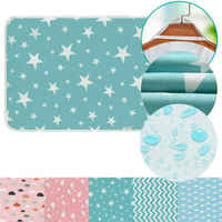 2019 Brand New Infant Baby Toddler Urine Mat Waterproof Change Cute Pad Cover Changing Home Bed Nappy Diaper 50x70cm