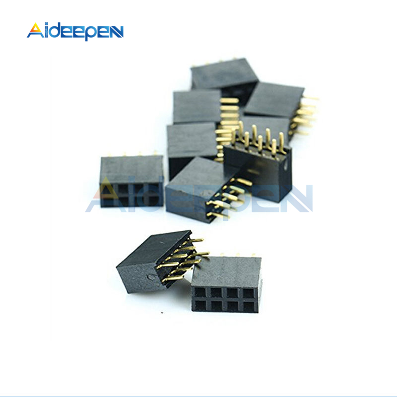 10Pcs/lot 2x4 <font><b>8</b></font> <font><b>Pin</b></font> 2.54mm Double Row Female Straight <font><b>Header</b></font> Pitch Socket 2*4 <font><b>Pin</b></font> Socket <font><b>Pin</b></font> Strip JST Connector For Arduino image