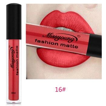 Μάτ lipstick σε 18 μοναδικές αποχρώσεις.