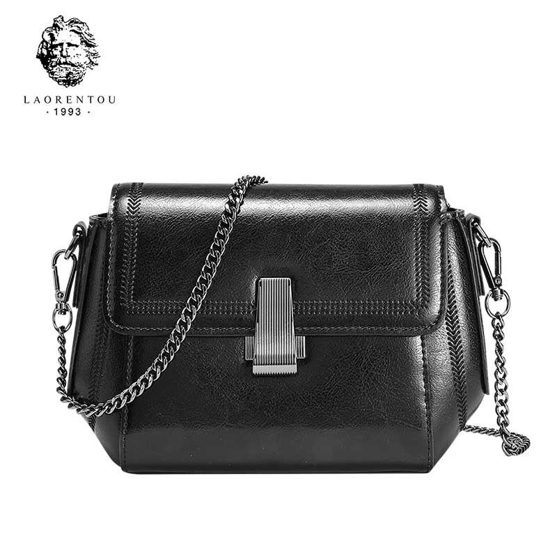 LAORENTOU Fashion Flap Crossbody Bags For Women Pu Leather Small Square Bag Clutches Casual Shoulder Messenger Bag Handbags