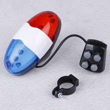 Accessories Bike Scooter Light Bicycle-Bell Siren Electronic LED Loud MTB 6-Led 4-Tone