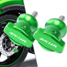 Hot Sale Motorcycle Swingarm Spools Slider For KAWASAKI NINJA ZX14R ZX-14R ZX 14R ZZR1400 ZX1400 GTR1400 M10 Screws Stand