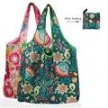 Нетканые многоразовые сумки для покупок, Женская Складная Сумка-тоут, Складная Большая вместительная сумка, переносная тканевая Эко сумка ...