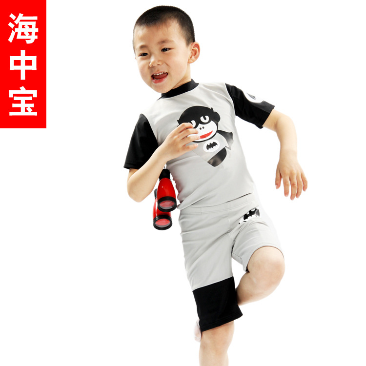 Cost Price 2013 Brand New Bat Monkey Men And Women Children Split Type Sun-resistant Swimsuit Ye-1701