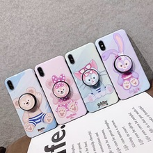 Cute cartoon anime Duffy Shelliemay phone case For iphone Xs MAX XR X 6 6s 7 8 plus cat rabbit silicone back Cover with bracket