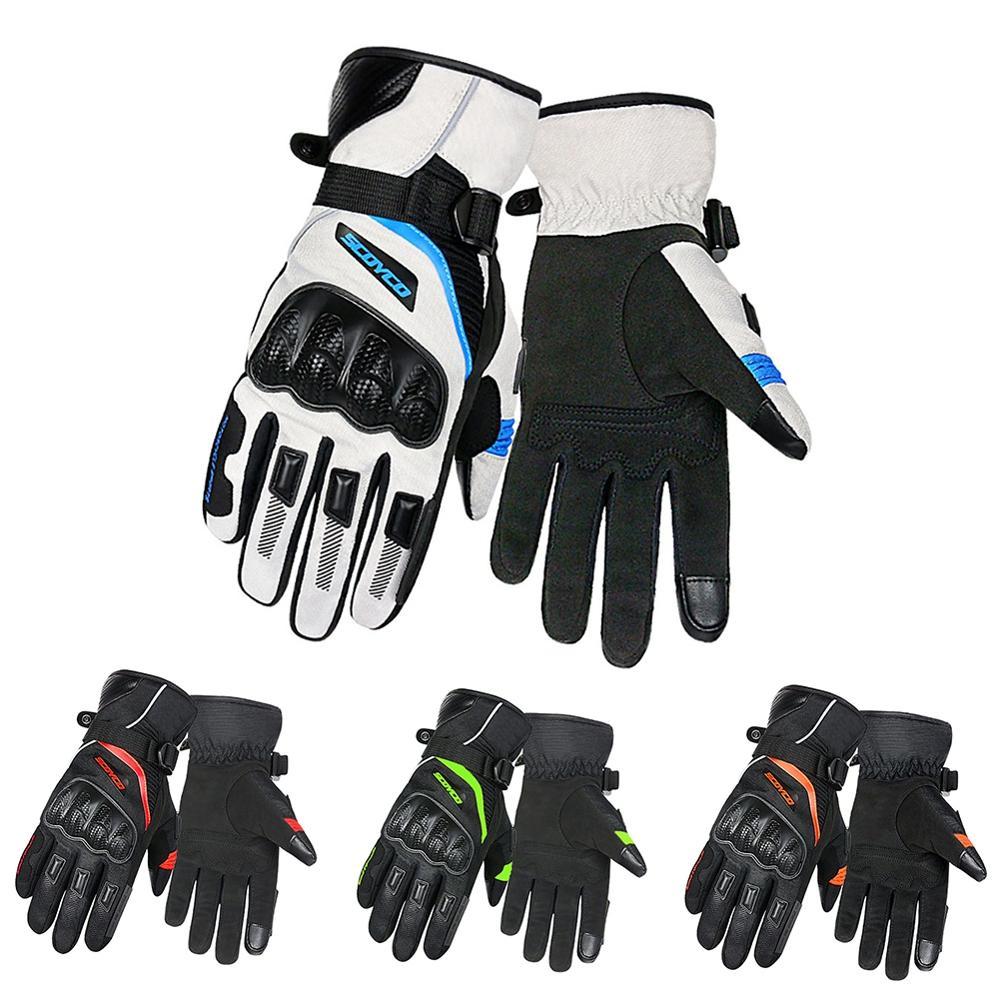 Зимние перчатки для велоспорта с сенсорным экраном, гелевые перчатки для езды на горном велосипеде, спортивные перчатки для езды на мотоцик