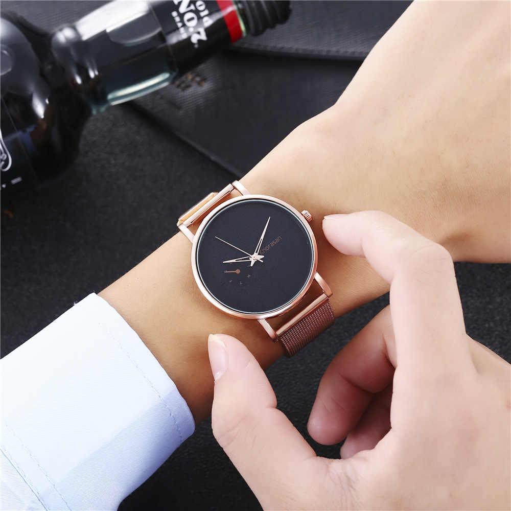 Mode Heren Top Merk Luxe Mannen Quartz Horloge Vrouwen Casual Slanke Mesh Staal Waterdichte Sport Horloge Ultra Dunne Liefhebbers Wijzerplaat klok