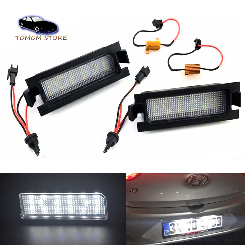 Car Styling Error Free Led License Plate Light For Hyundai I30 Gd 2011 I30cw Gd 2012 Car Tail Number Plate Lamps Big Discount C9241 Fashionscoopdaily