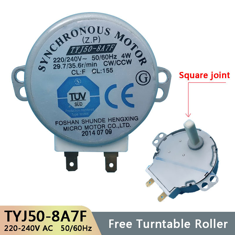 TYJ50-8A7F AC220-240V 50/60Hz Micro Turntable Synchronous Tray Motor Microwave Oven Accessories Spares Parts