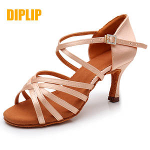 DIPLIP Dance-Shoes Salsa Tango High-Heel Latin Girls Women's Soft-Bottom New-Hot 5/7cm