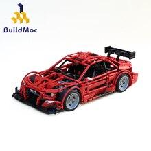 BuildMoc  Technic Audi-RS5 DTM Super Racers Super car Racing Car Building Blocks Motor Bricks Toys For Children Gift building blocks technic porsche 997 gt3 super racing car model technic children toys bricks christmas gift