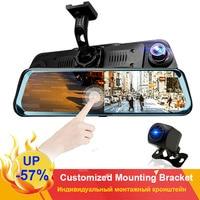 HGDO 10 Touch Screen Rear View Camera Mirror Dash Camera FHD 1080P Car DVR Night Vision Dash Cam Auto Driving Recorder Dashcam