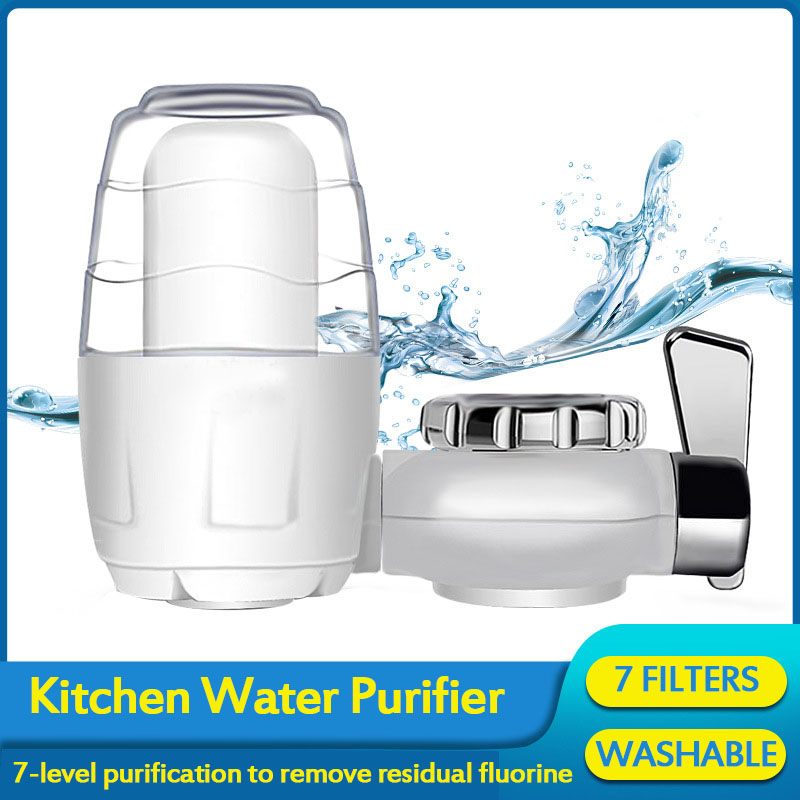Kitchen Water Faucets Filter Washable Ceramic Faucets Mount Tap Water Purifier Rust Bacteria Removal with Replacement Filter