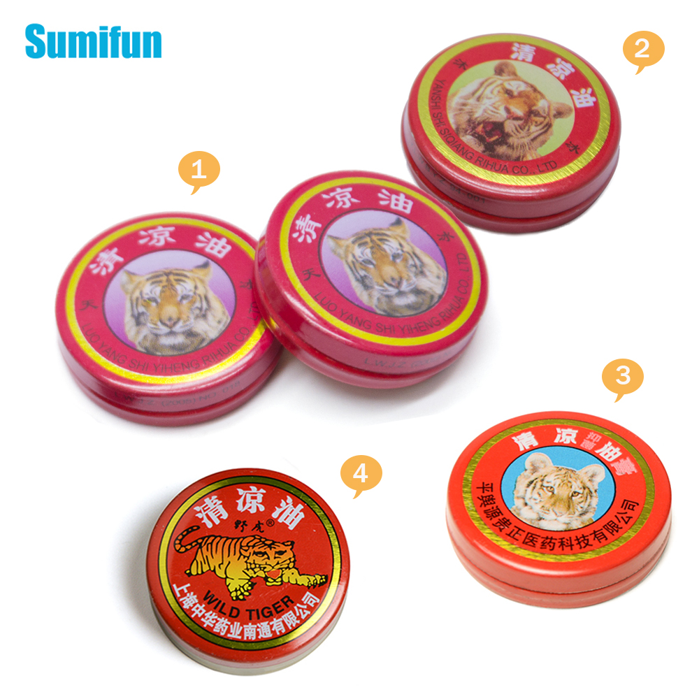4 Types Of 1Pcs Red Tiger Balm Ointment Hinese Essential Pain Relief Cool Cream For Cold Headache Dizziness Refresh Bad Smell