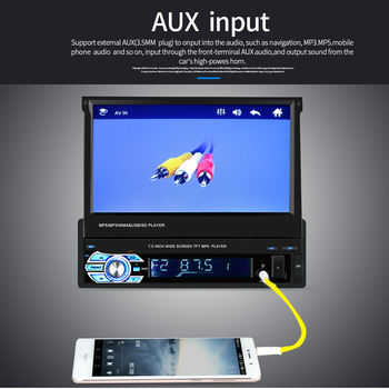 7 inch 9601G Upgraded Car Auto Stereo MP5 Player GPS Navigatie RDS AM FM Radio Head Unit image