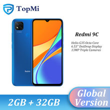 Nova versão global xiaomi redmi 9c 9 c 2gb 32gb smartphone helio g35 octa núcleo 6.53