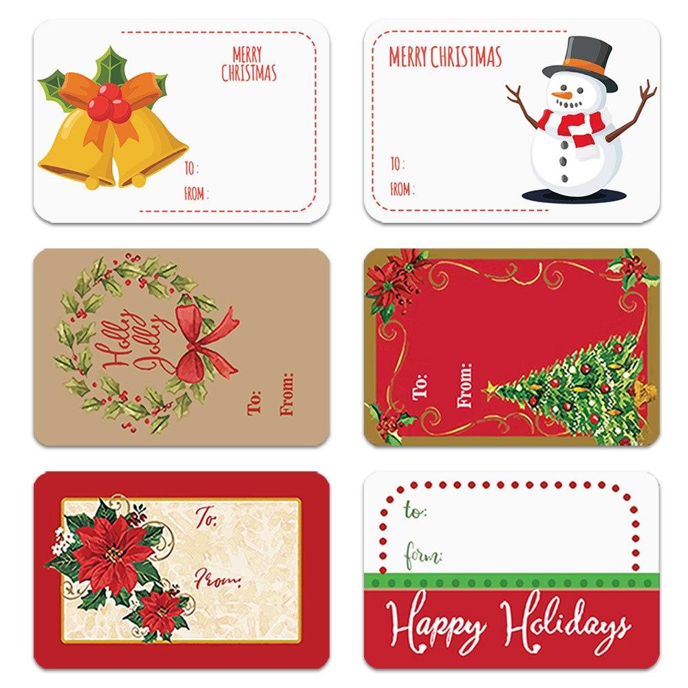 250/рулон 2020 рождественские наклейки эстетическое пуля журнал кавайные этикетки для рождественским принтом в виде Санты С утолщённой мехово...
