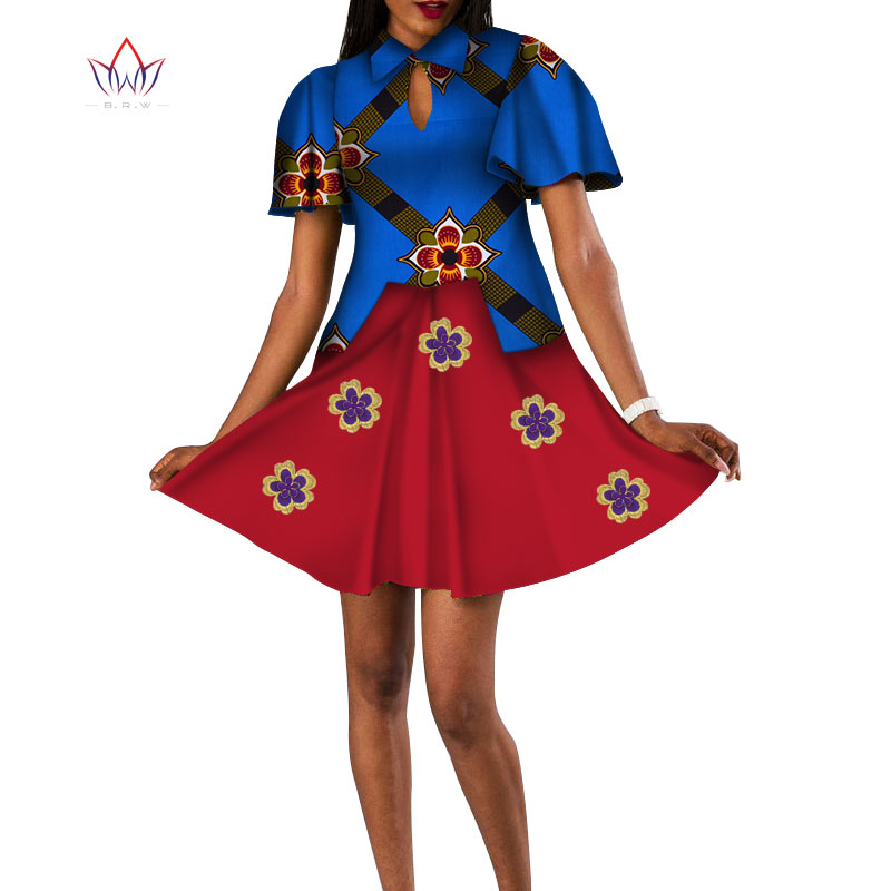 2020 Summer Dresses African Dresses For Women African Print Clothing Women Africa Clothing Knee Length Everyday 6xl WY4960