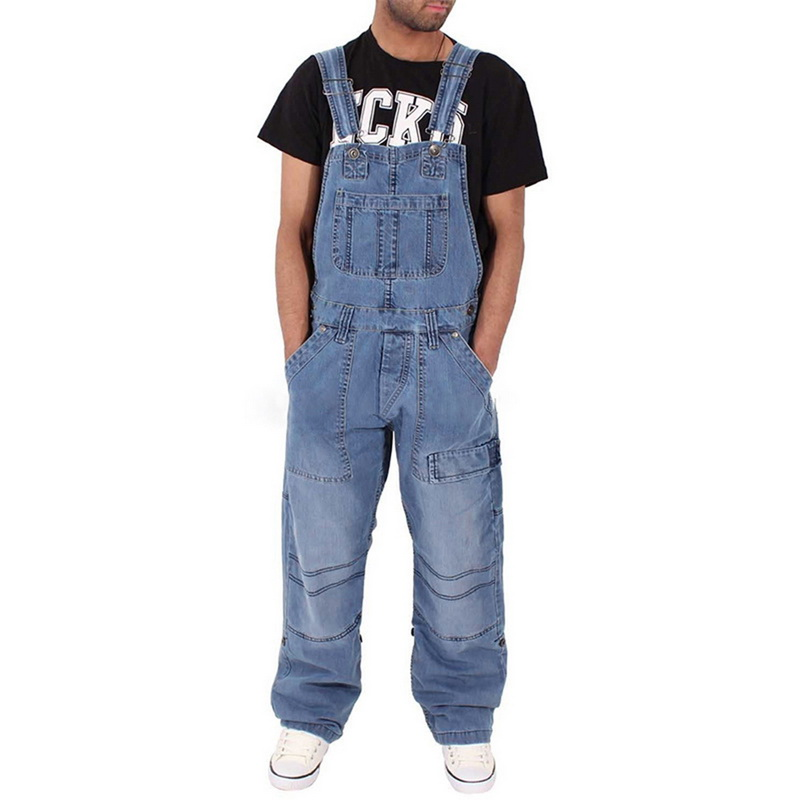 JODIMITTY Europe The United States Tide Brand Hip Hop Piece Denim Overalls Men's Japanese Retro Loose Large Size Tooling