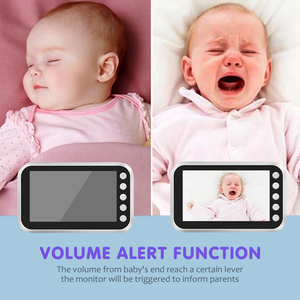 Image 4 - Ainhyzic 4.3'' IPS Screen Video Baby Monitor with Camera,Wireless Cry Baby Alarm Video Monitor Night Vision Security Babysitter