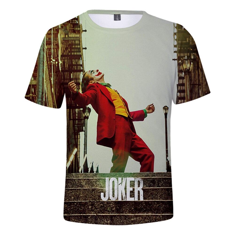 Joker Origin Movie Joker 2019 Joaquin Phoenix Arthur Fleck 3D Print T-shirt Men/Women Summer Casual Short Sleeve T Shirt Clothes