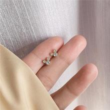Мини кристаллы милые серьги гвоздики для женщин; Простые браслеты