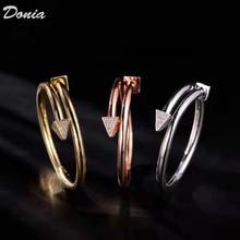 Donia תכשיטים אירופאי ואמריקאי אופנה חדש צמיד גבירותיי רוז זהב AAA זירקון צמיד אופנה צמיד פתוח