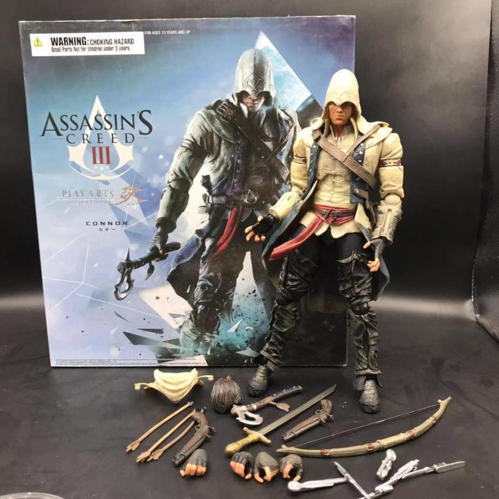 30cm/12inch Assassin creed3 Play Arts Kai Conner Eden Fruit PVC Action Figure Collectible Model Toys Gift Doll