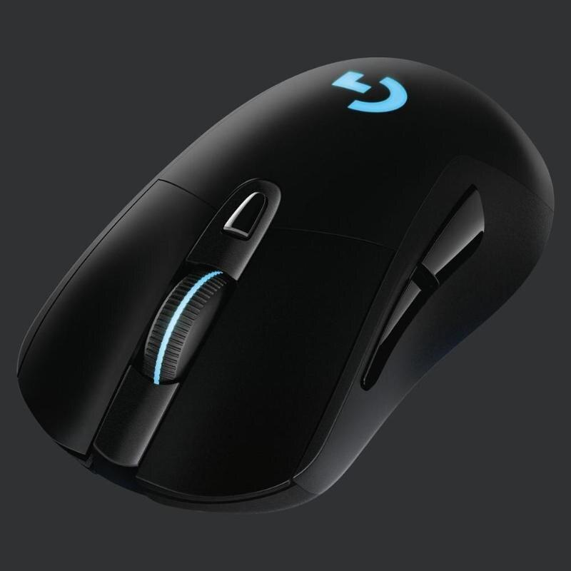Беспроводная мышь logitech G703 LIGHTSPEED 16000 dpi светодиодный RGB оптическая игровая мышь геймерские профессиональные мыши с сенсором Hero для геймера - 4