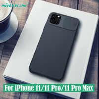 Para iPhone 11 11 Pro Max funda NILLKIN CamShield funda deslizante para cámara Protección de Privacidad funda trasera clásica para iPhone 11 Pro