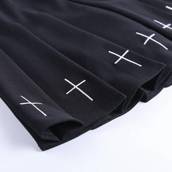 InsGoth High Waist Mini Black Skirts   6